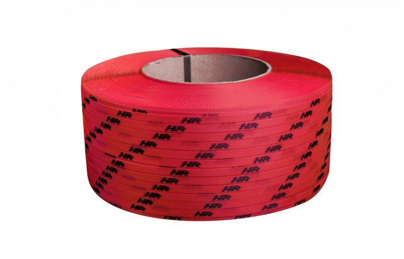 Polypropyleneband PP 12 x 0.60/200/2500 m/rot mit Ihrem Aufdruck