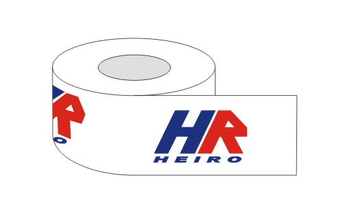 Adhesive tape with 2 colour printed logo 60 m  rubber / 360 pieces