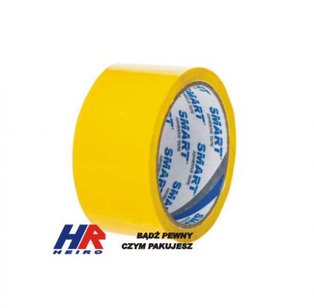 Adhesive tape 48 mm width/ acrylic, yellow / 50 m