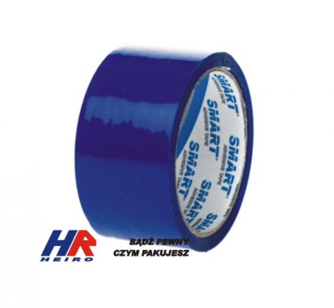 Adhesive tape 48 mm width/ acrylic, blue / 50 m