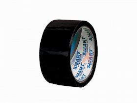 Adhesive tape 48 mm width/ acrylic, black / 50 m