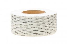 Polypropyleneband PP 12 x 0.60/200/2500 m/weiß mit Ihrem Aufdruck
