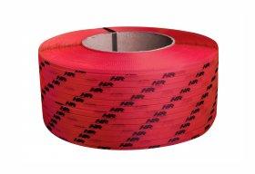 Polypropyleneband PP 09 x 0.55 mm/200/3200 m/rot mit Ihrem Aufdruck
