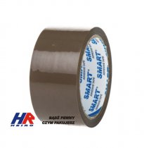 Adhesive tape 48 mm width / acrylic, brown / 50 y