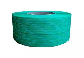 Polypropylene band PP 16 x 0.60/200/1800 m/green - printed white