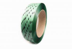Polyester PET band 12 x 0.60/406/2500 m personal logo printed (DEUTCH)